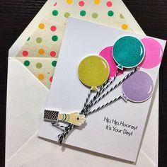 Happy birthday @lorijmc #diy #cards #papercrafts #papertreyink