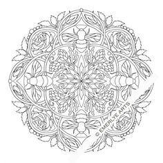 Cynthia Emerlye, Vermont artist and life coach: Bumblebee coloring page