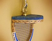Vintage Tennis racquet shelf...so clever!
