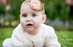 Baby Photo Prop Singed Satin Baby Headband by LittleDivaBoutique, $12.00