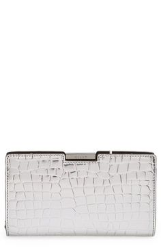 Milly 'Small Ginza' Croc Embossed Frame Clutch