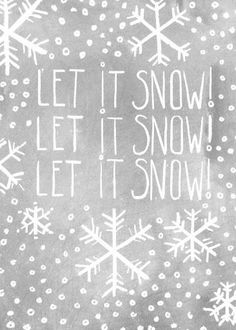 Let it Snow! it doesn't snow here in Australia, but it's imagine a white christmas! Noel Christmas, Little Christmas, Christmas And New Year, Winter Christmas, All Things Christmas, Christmas Song Quotes, White Christmas Quotes, Xmas Songs, Christmas Vacation