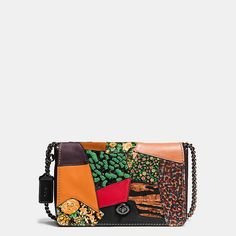 Coach Dinky Crossbody 24 in Embellished Patchwork Leather