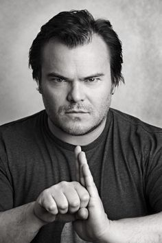 Jack black - The school of rock, the holiday, Kung fu panda, shallow Hal, ice ag. Jack Black, Black White, Tenacious D, Kino Film, School Of Rock, Celebrity Portraits, Famous Faces, Funny People, Face Shapes