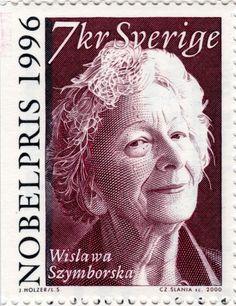 Wislawa Szymborska – Nobel Prize 1996 in Literature. Engraved by Slania: Sweden post stamp, circa 2000 Nobel Prize Winners, World 2020, Postage Stamp Art, Vintage Stamps, Mermaid Art, Stamp Collecting, Printmaking, Famous People, Literature
