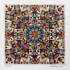 Mandala art by South African artist Lize Beekman. It is Lize's unique interpretation of this age-old art form that makes her work unique. Buy art online.
