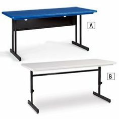 CORRELL Training Tables - Blue by CORRELL. $373.00. Brighten up your training room, computer lab, library, or student work area with these colorful CORRELL Training Tables. Blow-molded surface resists damage from practically anything including food, permanent markers, and ink. Sturdy all-steel frames include adjustable nylon glides. Desk-height and keyboard-height tables have a modesty panel and wire management area inside bottom edge; adjustable height tables include ...