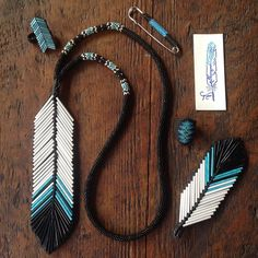 This might be a fitting set for me to keep- turquoise is my fave color after all #modocdesigns #handmade #beadwork #ooak #eaglefeather #nativestyle #nativemade