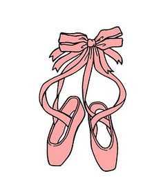 A how to draw ballet slipper (may use for applique)