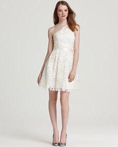Aidan Mattox Lace Dress - Diamond