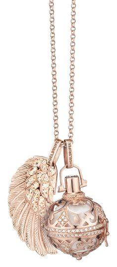Halskette HerzAnhänger Rose Gold Engeslrufer Glücksbringer Liebe 925 Silber PL