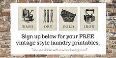 Vintage Laundry Printables
