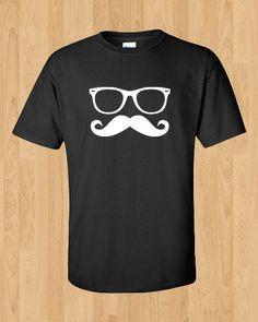 new concept f6a41 57b84 Mustache Shirt - Funny t-shirt - Mustache   Glasses T-shirt · Lebron James  ...