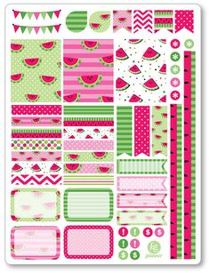 Watermelon Decorating Kit / Weekly Spread Planner by PlannerPenny