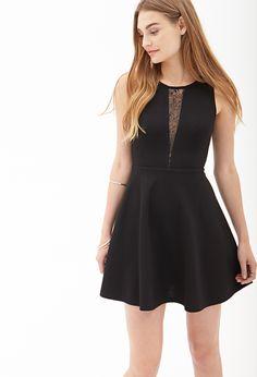 Lace Cutout Skater Dress | FOREVER21 - 2000060372 #Dress