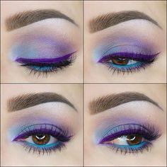 Purple Winged Eyeliner