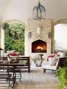 Use interesting sculptures and centerpieces to transform your patio! More patio design tips: http://www.bhg.com/home-improvement/patio/designs/patios/?socsrc=bhgpin060313accents=12