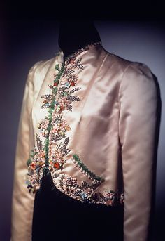 Jacket, Evening.  Elsa Schiaparelli (Italian, 1890–1973).  Manufacturer: House of Lesage (French, founded 1922). Date: summer 1937. Culture: French. Medium: silk, glass. Dimensions: 30 1/2 in. (77.5 cm).