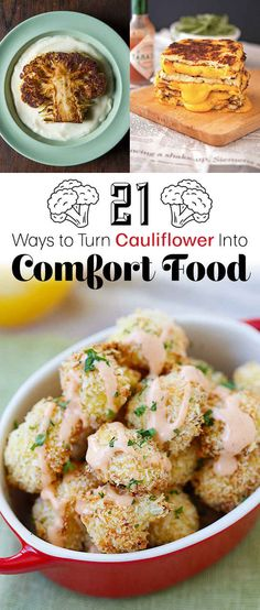 For dinner, swap denser carbs like bread, rice, and potatoes for cauliflower. The resulting dish will have a similar flavor profile, often with fewer calories and fewer carbs.