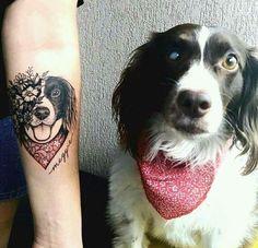 Cachorros, fofos, tatuagem,
