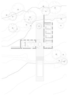 Design, architecture and landscape for a new polyvalent family home in the Costa Brava integrated into the natural landscape. By Barcelona based architecture and design studio MESURA Camera Shots, L Shape, Glass Door, Facade, Living Spaces, Home And Family, New Homes, Floor Plans, How To Plan