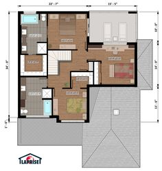 Nice Plan Maison Laprise that you must know, You?re in good company if you?re looking for Plan Maison Laprise Duplex House, House 2, Plan Chalet, Prefabricated Houses, Good House, Model Homes, Contemporary Design, Bungalow, Beautiful Homes