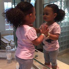 """on Instagram: """"She's just too cute #kiddycurls #bourgiebabies #frobabies #herfirstlowponytail"""""""