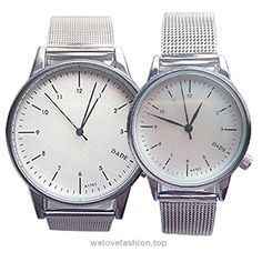 OurJewellery Waterproof Silver Stainless Steel Mesh Band Lovers Wrist Watch Sets of 2 BUY NOW     $25.99     Description:   – 100% brand new and high quality.  – Stainless steel case & band.  – Precise quartz movement for accurate time keeping.  – Daily water resistance (not for showering and swimming).  – Color may not ap ..