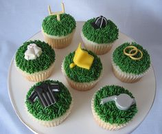 Football Referee Wedding Cupcakes