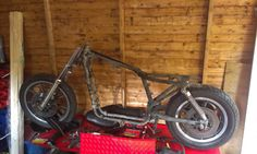 Stripped Ready For Re-Build Shed, Bicycle, Lean To Shed, Bike, Bicycle Kick, Trial Bike, Coops, Barns, Bicycles