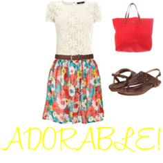 Cute outfit for church or day out with the girls :)