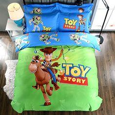 more photos 8b061 06b2e CASA 100% Cotton Kids Bedding Set Boys Toy Story Duvet cover and Pillow  case and