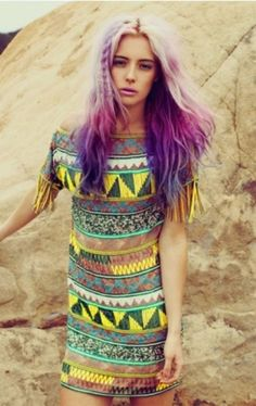 tribal + purple ombre