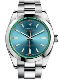 Marca: Rolex Serise: Milgauss Modello: 116400GV-0002 Case Forma: rotonda Dimensioni cassa: 40 mm Materiale cassa: Acciaio inossidabile Colore quadrante: Blu Vetro: zaffiro antigraffio Lunetta: fissa Corona a vite: Sì Resistenza all'acqua: 100 M Rolex Oyster Perpetual, Swiss Luxury Watches, Luxury Watches For Men, Stylish Watches, Cool Watches, Rolex Watches For Men, Dream Watches, Expensive Watches, Watch Sale