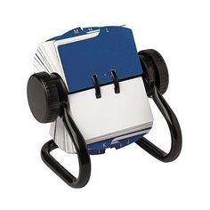 Rolodex Open Rotary Card Holder ($12) ❤ liked on Polyvore featuring home, home decor, card holder, desk organization, office supplies, stationery & office supplies, rolodex and metal home decor