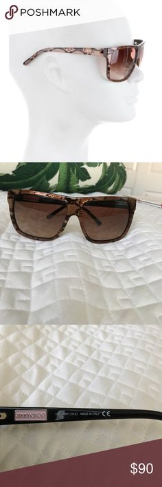 Jimmy Choo snake skin flat top sunglasses Authentic. Pre-loved. Small scratch close to lense, please see picture. Very fine scratches due to normal. Camera can't pick up. No case or cloth. Jimmy Choo Accessories Sunglasses