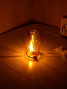 How To Make Your Own Olive Oil Lamp - http://www.motherearthnews.com/diy/make-olive-oil-lamp.aspx#axzz2U67XM3BD