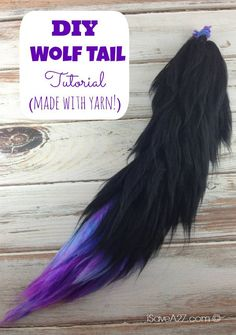 Wolf Tail Tutorial Costume Wolf Tail Tutorial instructions included - It's made with YARN!Costume Wolf Tail Tutorial instructions included - It's made with YARN! Cat Costumes, Cosplay Costumes, Costume Ideas, Group Costumes, Diy Cat Costume, Diy Cheshire Cat Costume, Cat Tail Costume, Grease Costumes, Fox Costume