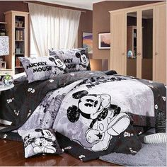 Free shipping! mickey mouse minnie mouse 4pcs comforter bedding set  queen size  duvet covers/100% cotton bedline bedclothes1180 on AliExpress.com. $78.00