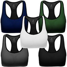 Maternity Styles - MIRITY Women Racerback Sports Bras High Impact Workout Gym Activewear Bra Color Black Grey Blue Green White Pack of 5 Size XL *** Inspect this amazing item by going to the web link at the image. (This is an affiliate link). Sports Bra Outfit, Racerback Sports Bra, Women's One Piece Swimsuits, One Piece For Women, Womens Clothing Stores, Maternity Fashion, Maternity Styles, Workout Wear, Bra Tops