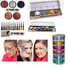 Amazing high quality face paints used by professional face painters.