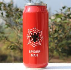 Heros League Vacuum Flasks Straw Water Bottle 450ml Stainless Steel Thermos Mug Beverage Can Thermocup 1pc