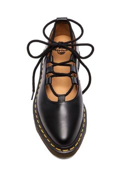 Shop for Dr. Martens Elphie Ghillie Pump in Black at REVOLVE. Pretty Shoes, Cute Shoes, Me Too Shoes, Dr. Martens, Doc Martens Oxfords, Dr Martens Sandals, Shoe Wardrobe, Pumps, Timberland Boots