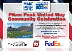 Join us on June 22 for a fun, memorable evening with others who care deeply about our community. The Pikes Peak United Way Community Celebration is an annual event to recognize those who have supported United Way. This event celebrates our community impact and honors small, medium and large businesses that give, advocate and volunteer.