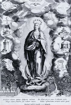 I SIMBOLI DI MARIA, Raphael Sadeler  The Immaculate Conception 1605 New York