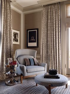 use crown molding to box in drapery rods. Keeps poles/rods hidden while giving a finished & polished look to the walls, the windows and the draperies...ties in with crown molding