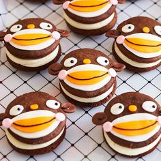 Homemade Monkey Whoopie Pies. See the rest of this sock monkey themed Halloween party: www.bhg.com/halloween/parties/sock-monkey-halloween-party/?socsrc=bhgpin100912monkeywhoopiepies#page=10