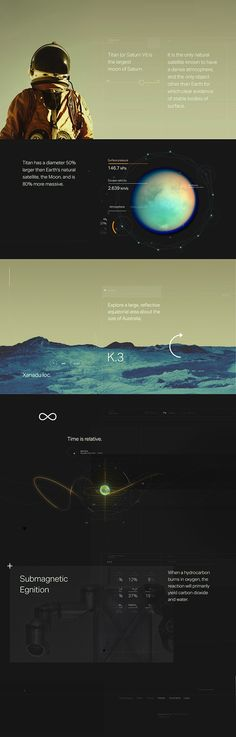"""Graphics / This site has a nice mix of photography, vectors and type. We also like the use of contrasting color. We like the feeling of """"the sky is the limit."""" It fits well with our brand strategy of providing opportunities that are bigger than ourselves. We also like the networking/worldly feel of astronomy. It ties in nicely with the outlined version of the wolf logo."""