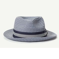 Cayo Natural Classic Brim Fedora hat front view