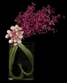 Heart shaped bear grass with cymbidium and J Story orchids - Ovando